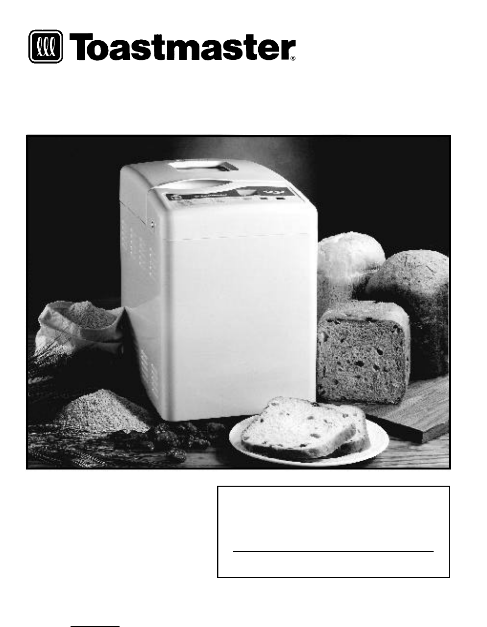 toastmaster bread box 1172 manual
