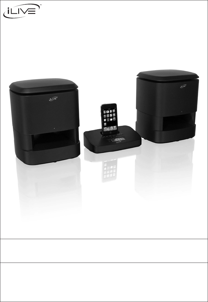 ilive speaker system is809b user guide manualsonline com rh tv manualsonline com ilive bluetooth radio manual ilive clock radio manual