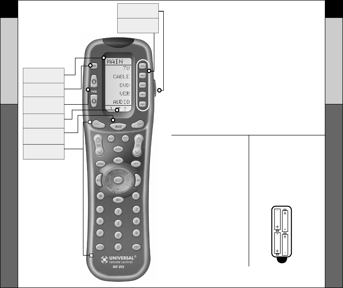 Page 3 Of Universal Remote Control Universal Remote Rf20