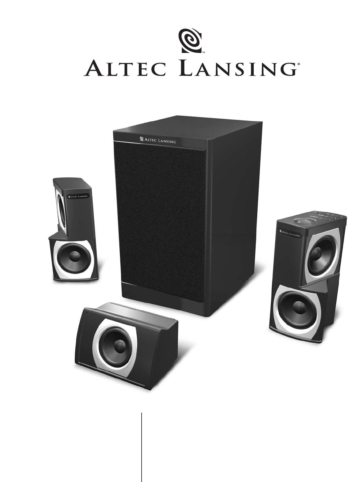 altec lansing speaker gt5051 user guide manualsonline com rh audio manualsonline com Altec Lansing Logo Altec Lansing Speakers