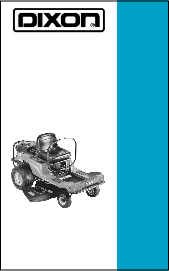 Dixon Lawn Mower Ztr 3530 User Guide Manualsonline Com