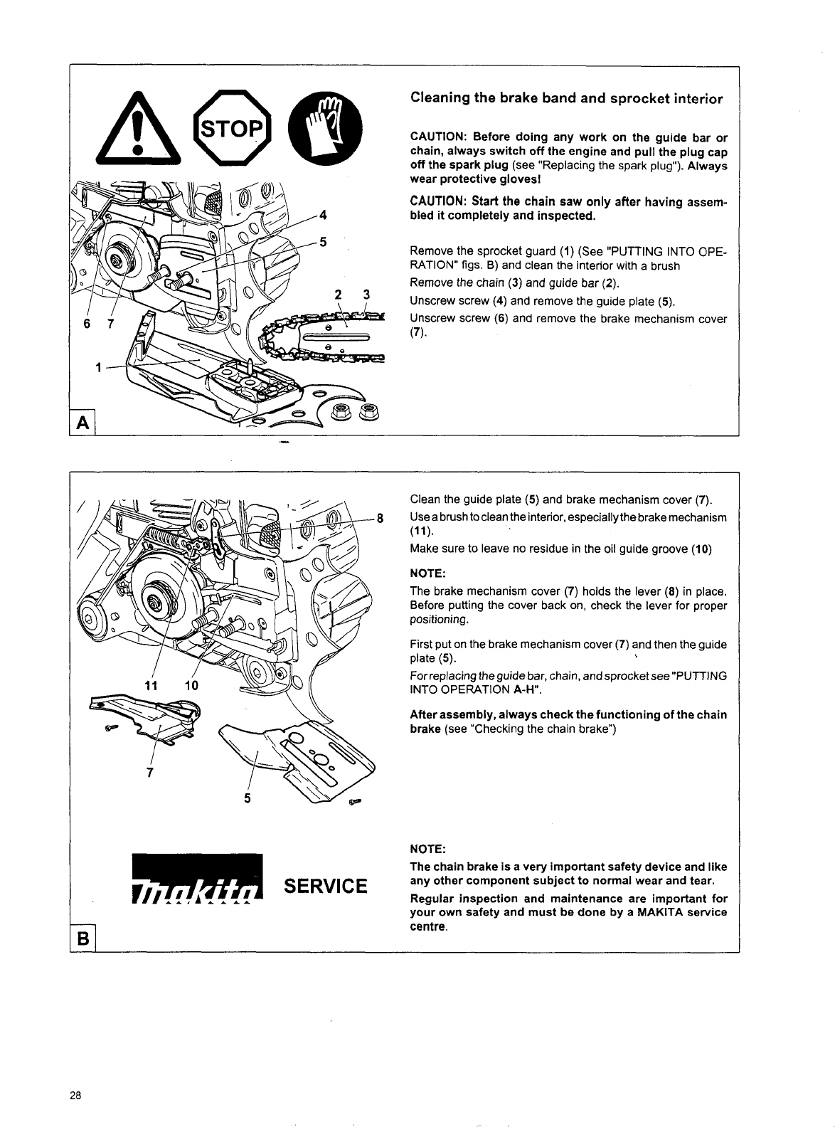 Page 28 of makita chainsaw dcs 6400 user guide manualsonline greentooth Choice Image