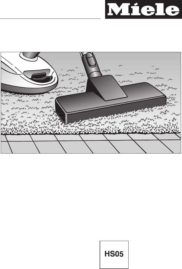 Miele Vacuum Cleaner S 768 User Guide | ManualsOnline.com