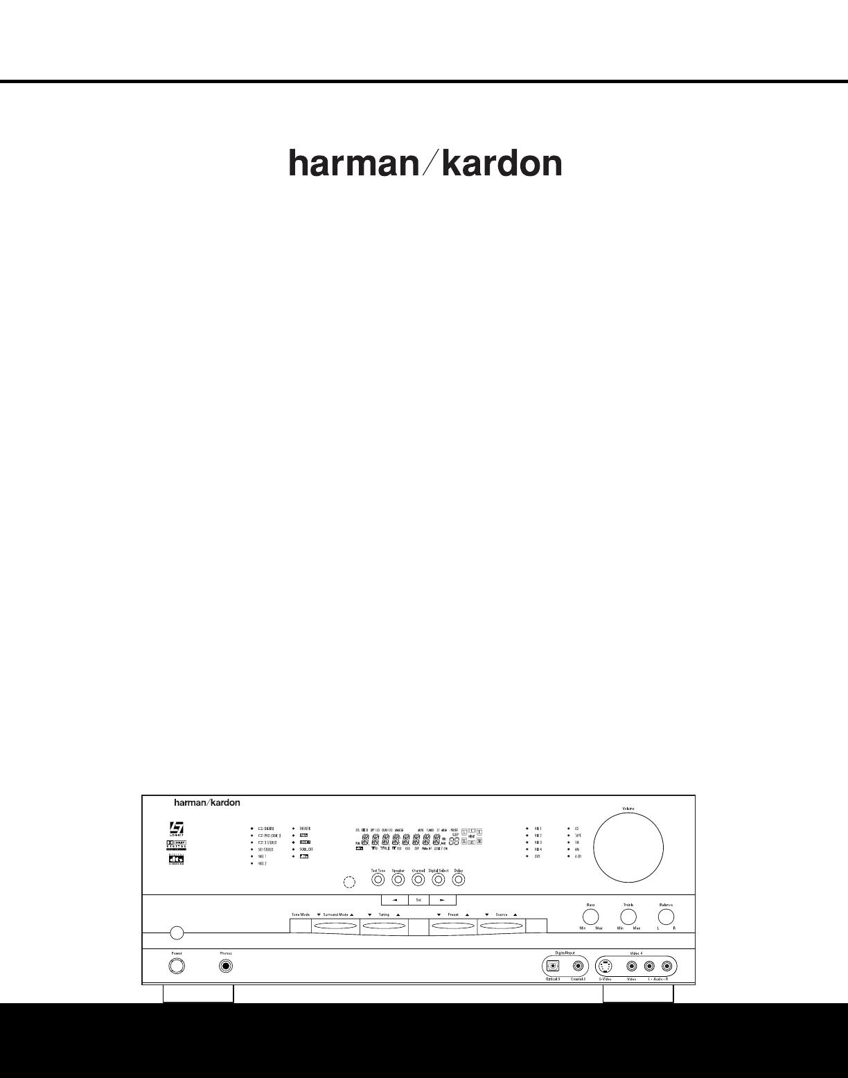 harman kardon stereo receiver avr 225 user guide manualsonline com rh audio manualsonline com Harman Kardon AVR 347 Harman Kardon AVR 1650