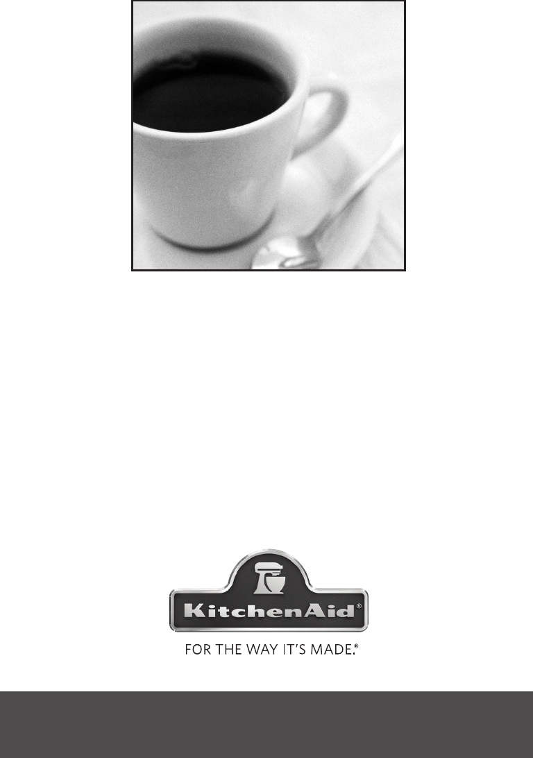 Kitchenaid Coffee Maker Operating Manual : KitchenAid Coffeemaker KCM1402OB User Guide ManualsOnline.com