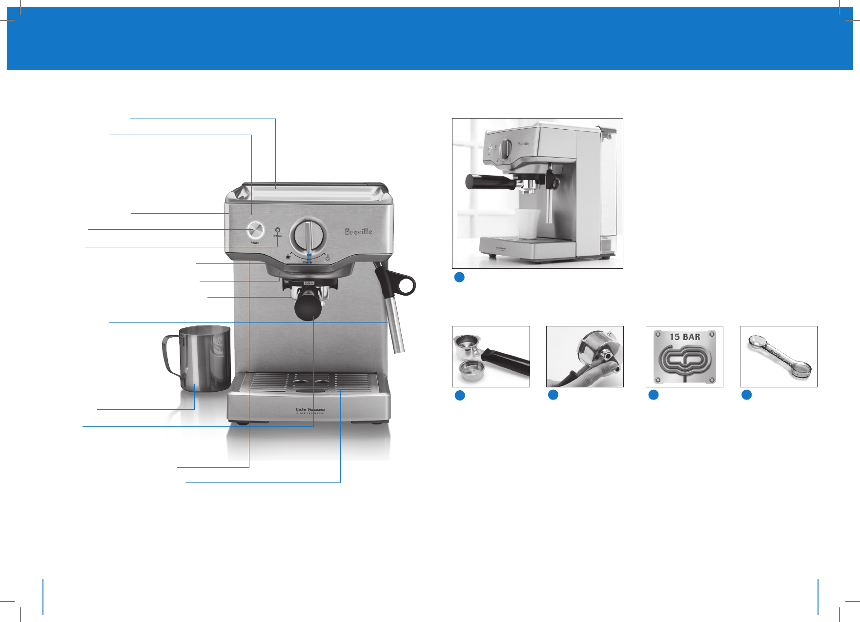 Page 4 of Breville Coffeemaker BES250S User Guide ManualsOnline.com