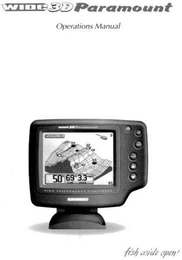 Humminbird Fish Finder 3d User Guide