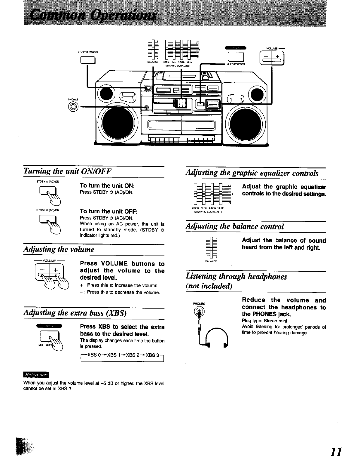 page 11 of panasonic stereo system rx dt650 user guide rh audio manualsonline com Panasonic Car Stereo CD Player Panasonic Stereo System