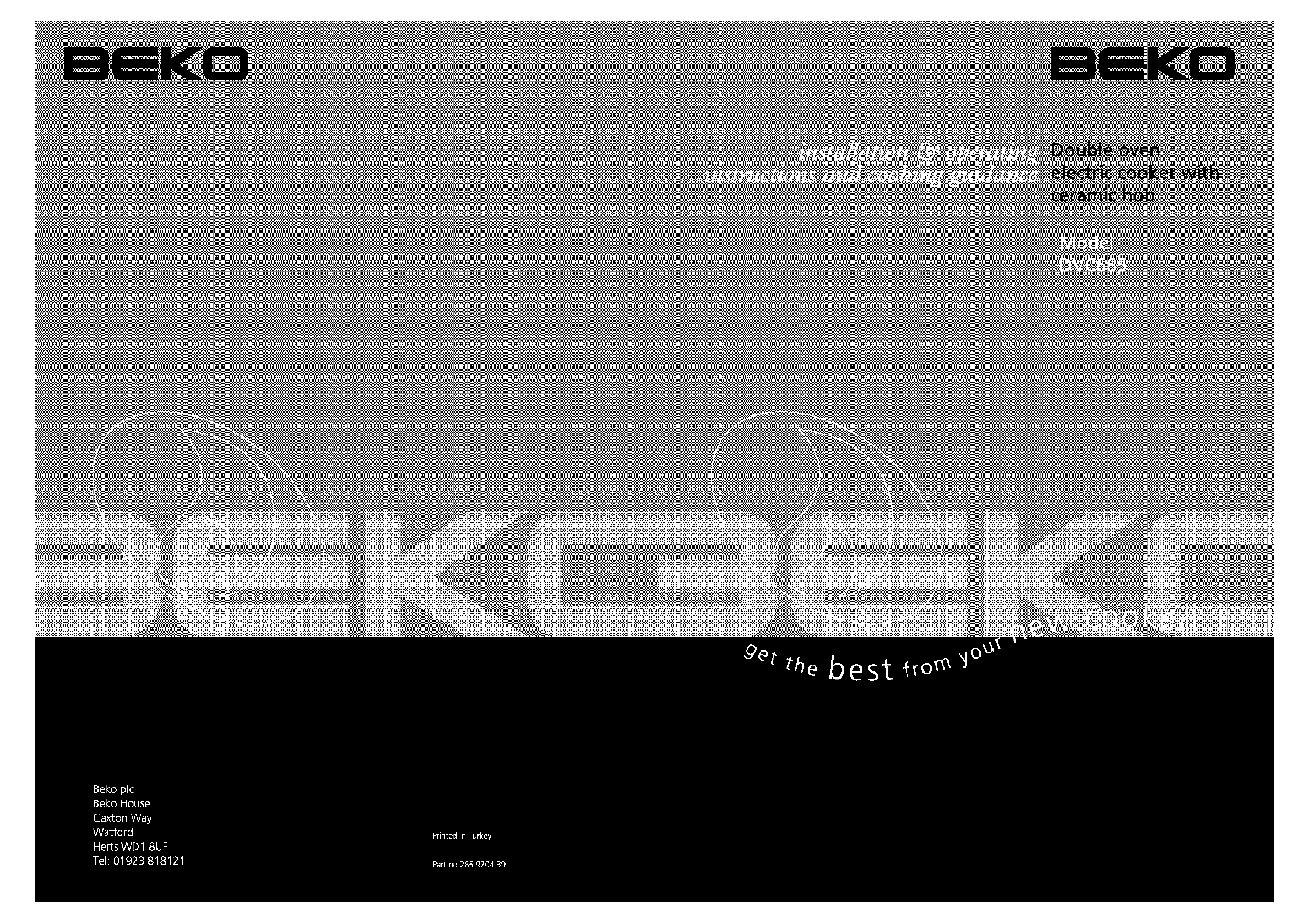 Beko Double Oven DVC665 User Guide | ManualsOnline.com