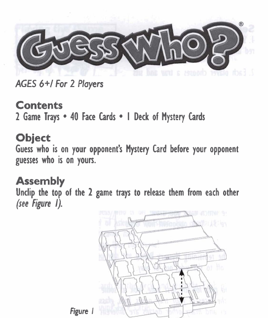 hasbro games guess who user guide manualsonline com rh fitness manualsonline com Guess Who's Coming to Dinner Guess Who Rules