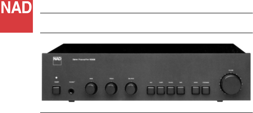 nad stereo amplifier 10 20 b user guide manualsonline com rh audio manualsonline com Outlaw Audio Nad Audio Systems