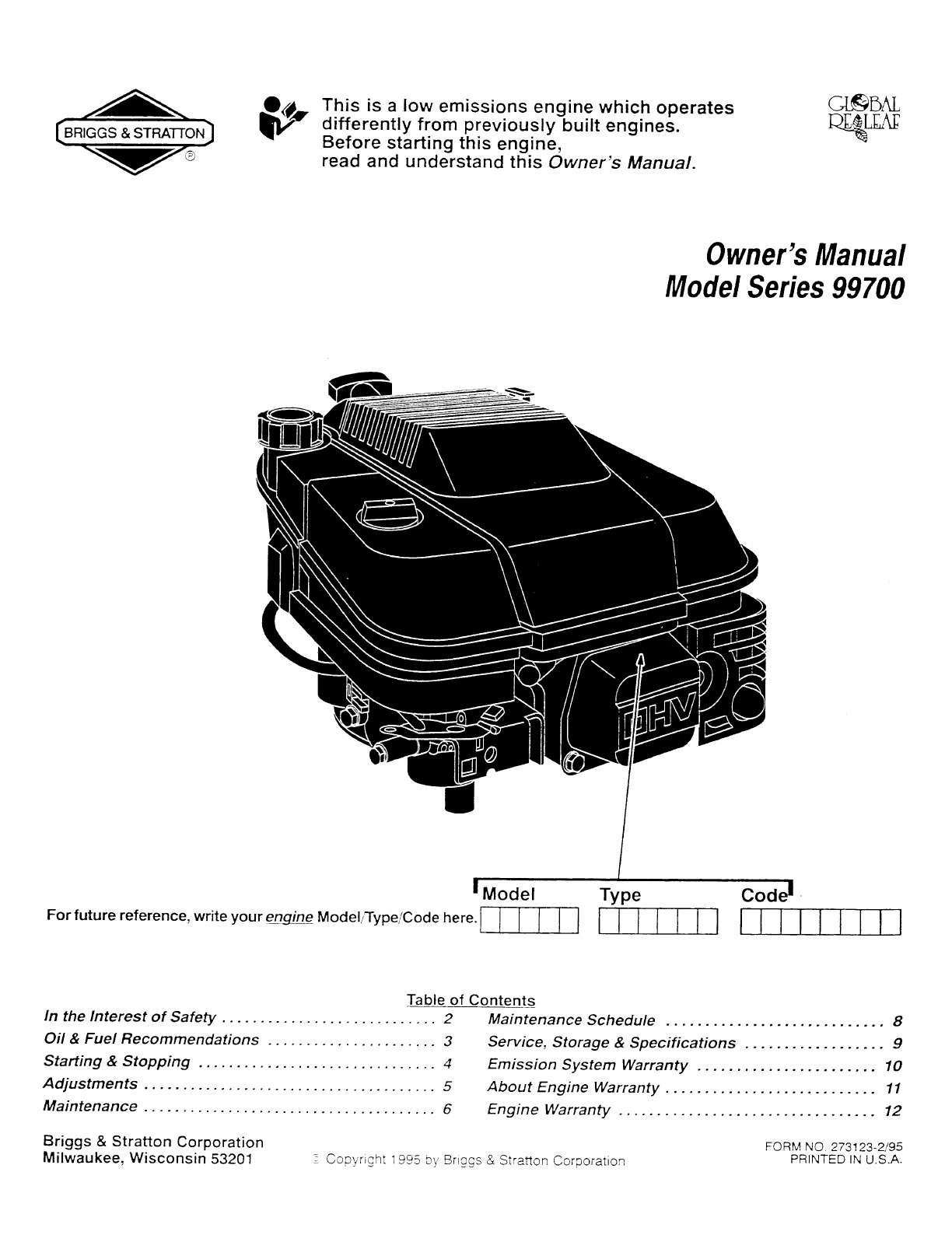 148cc briggs and stratton engine manual