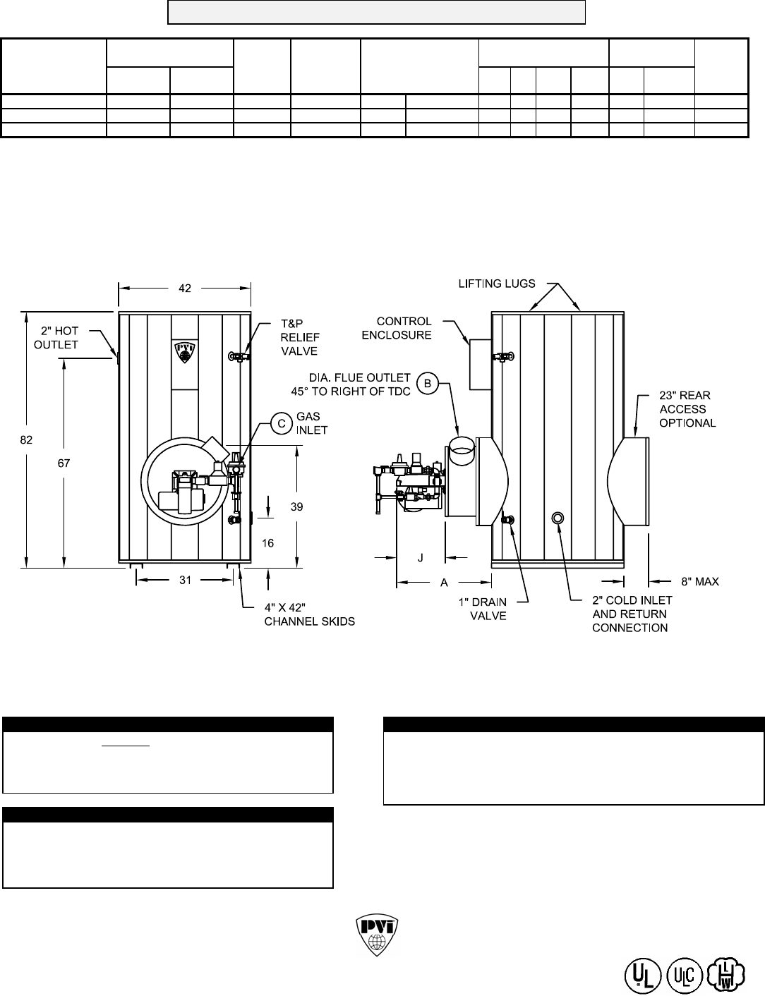 Pvi Industries Water Heater 500 N 400a Tpl User Guide