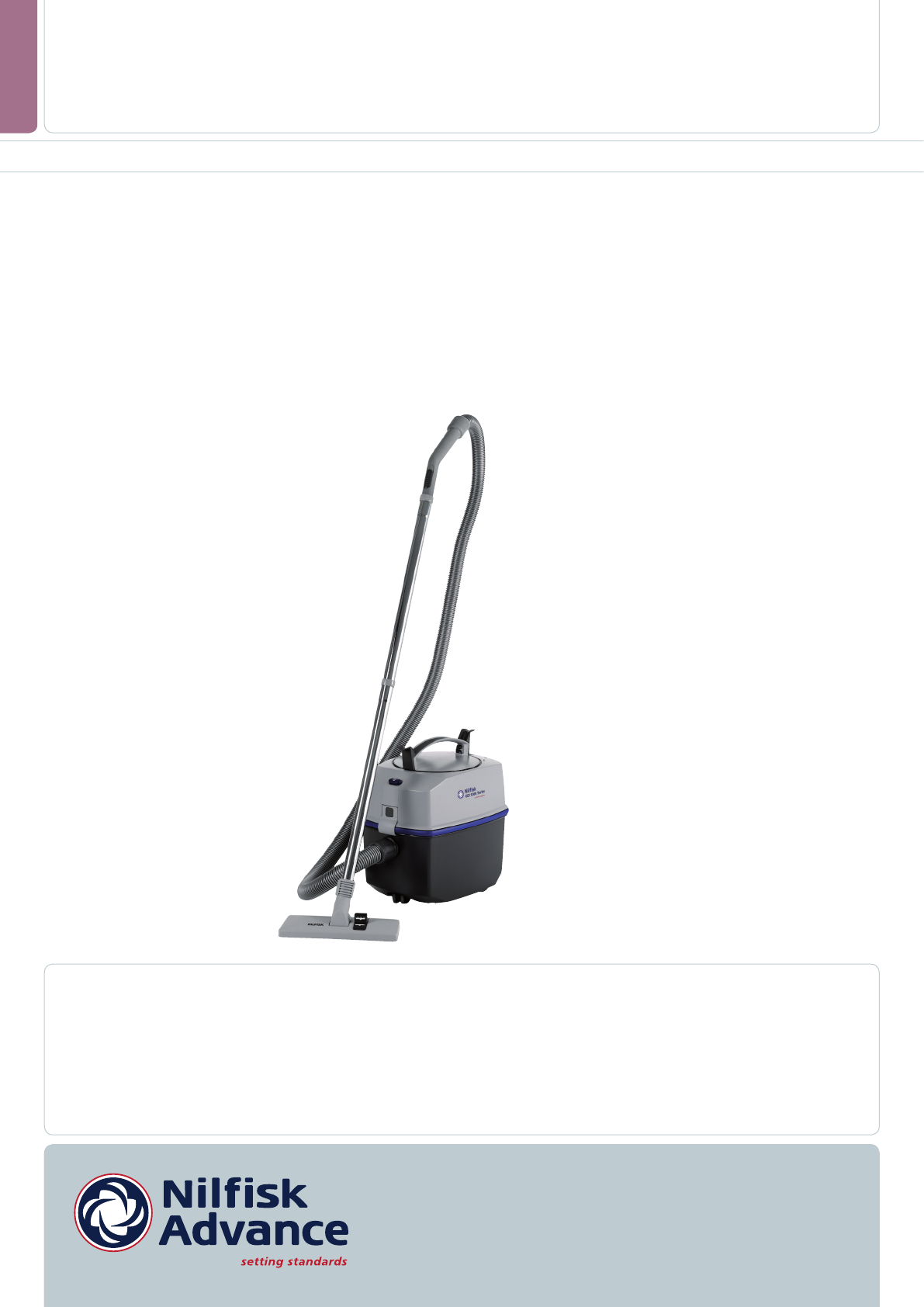 nilfisk advance america vacuum cleaner gd 1000 series user. Black Bedroom Furniture Sets. Home Design Ideas