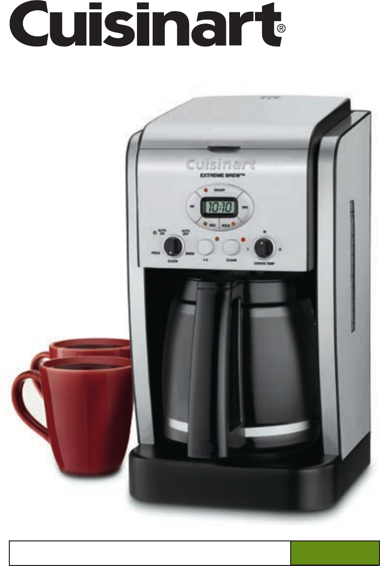 cuisinart coffeemaker dcc 2650 user guide manualsonline com rh kitchen manualsonline com cuisinart 14 cup coffee maker instruction manual Cuisinart Programmable Coffee Maker Manual