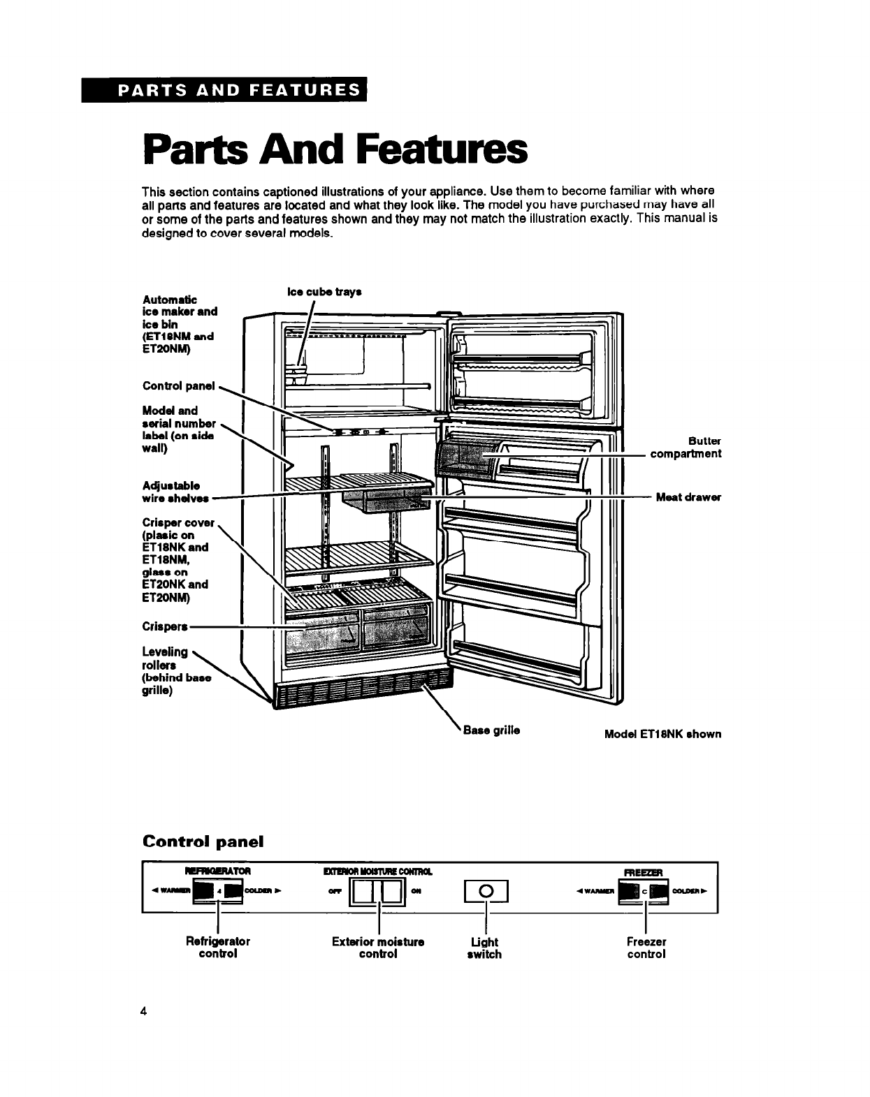 page 4 of whirlpool refrigerator et18nm user guide WRF560SEYW Whirlpool Refrigerator Parts List Whirlpool Refrigerator Parts Diagram