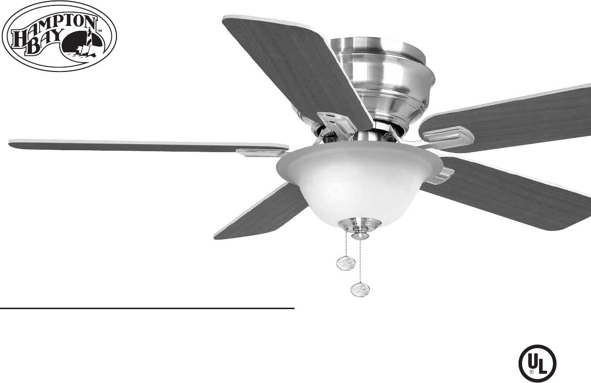 Hampton bay outdoor ceiling fan 122 135 user guide manualsonline hampton bay 122 135 outdoor ceiling fan user manual mozeypictures Image collections