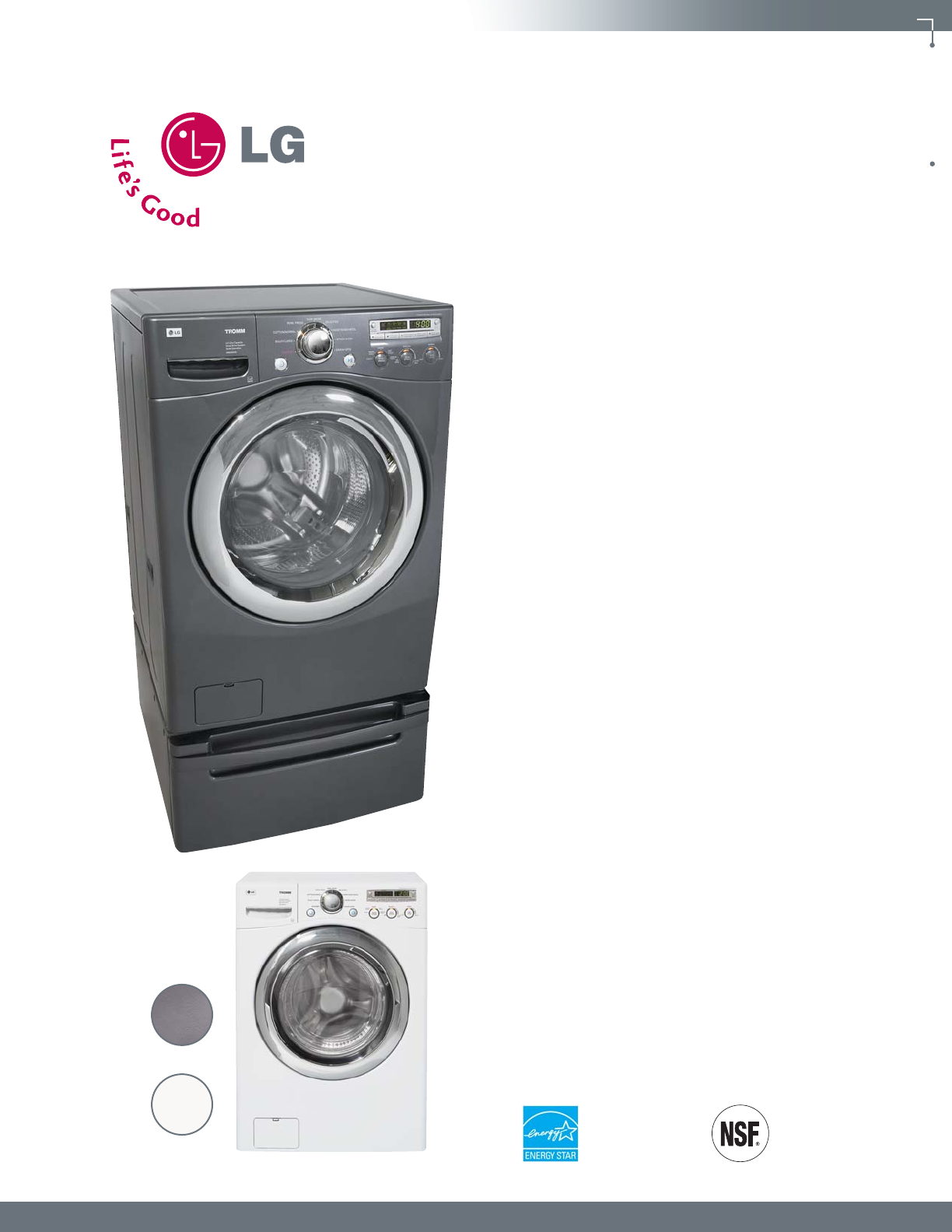 lg electronics washer wm2455hg user guide manualsonline com rh tv manualsonline com LG Washer WM2455HW Manual Model Number Wmo642hw LG Washing Machine ManualsOnline