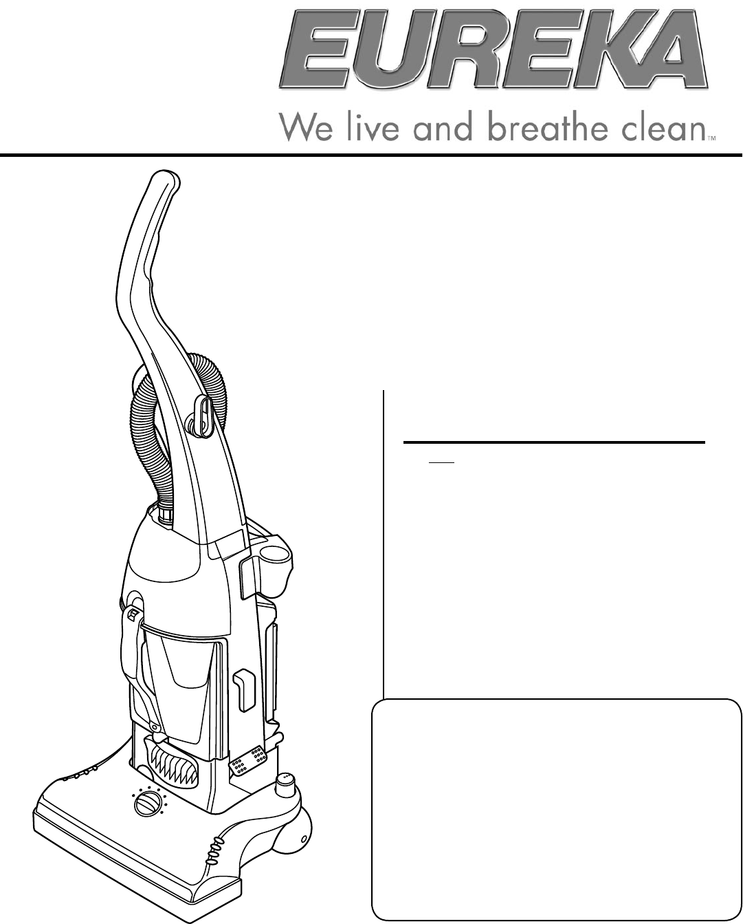 eureka vacuum cleaner 4490 series user guide manualsonline com upright vacuum cleaner