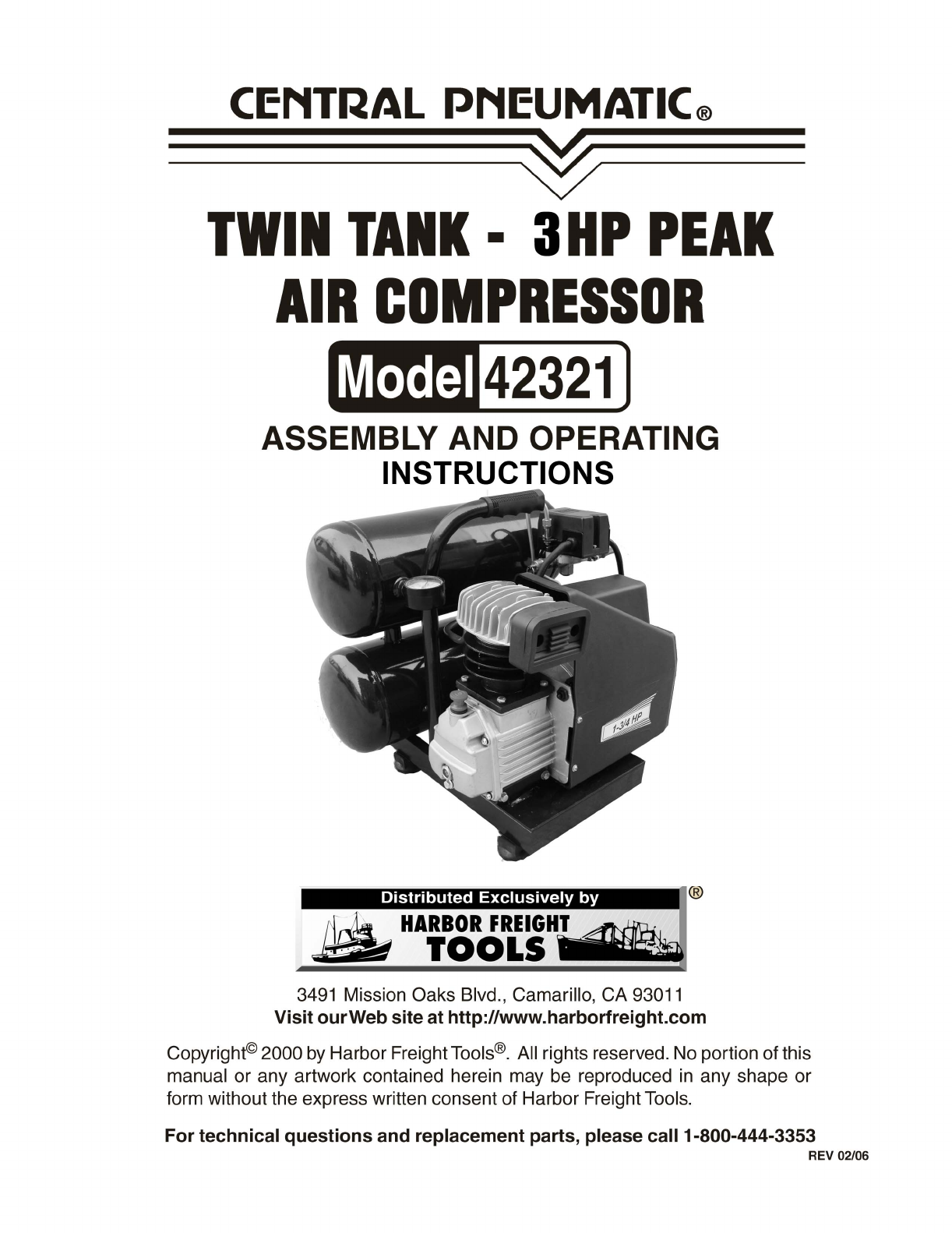 harbor freight tools air compressor 42321 user guide