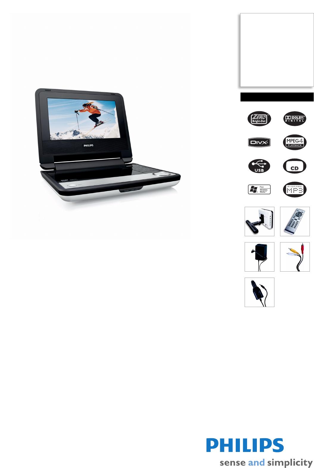 philips portable dvd player pet730 00 user guide manualsonline com rh powertool manualsonline com philips portable dvd player manual pet741 37 philips portable dvd player dcp 750 37 manual