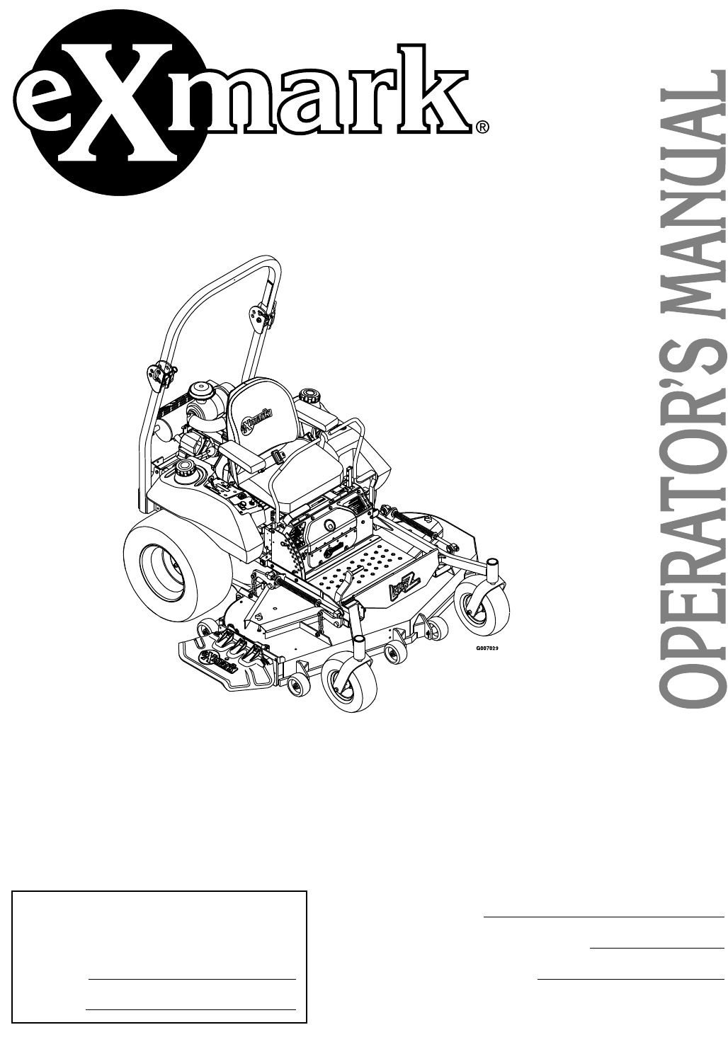 Exmark Lawn Mower Lz27kc604 User Guide Manualsonlinecom Engine Housing Diagram And Parts List For Craftsman Walkbehindlawn Serial Nos