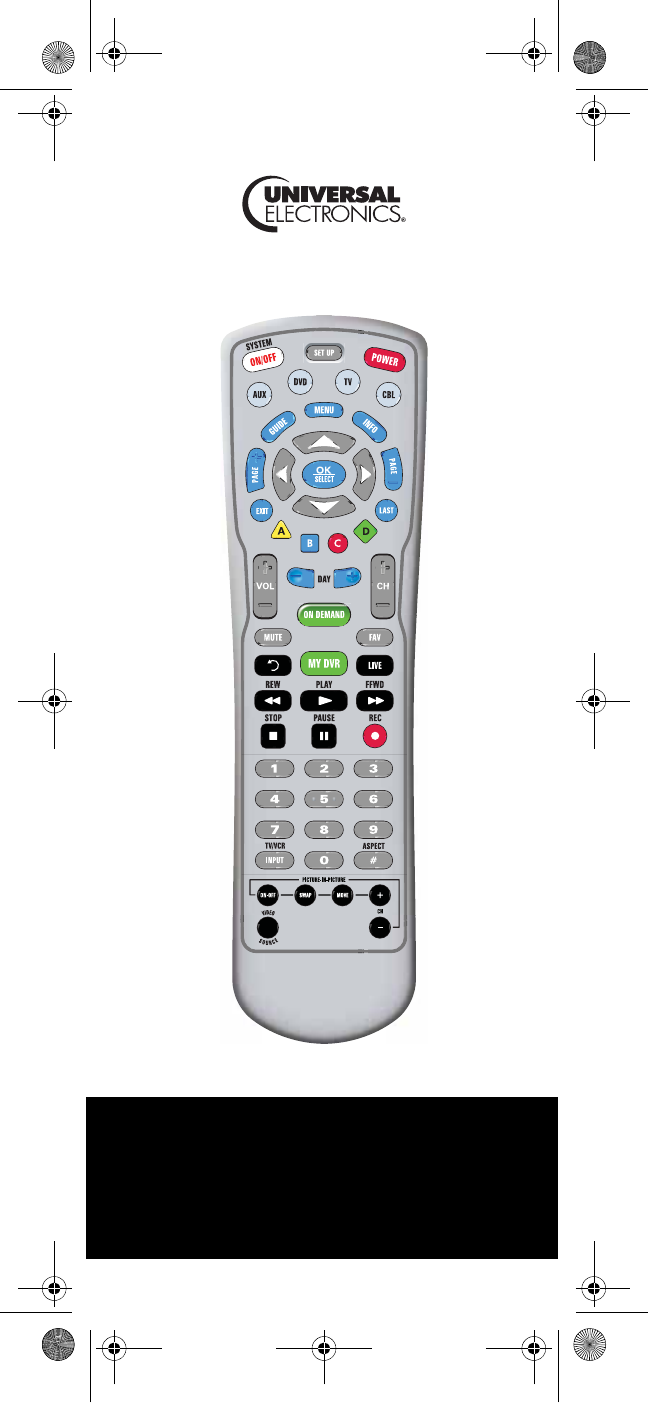 Universal Electronics Universal Remote C4000 User Guide