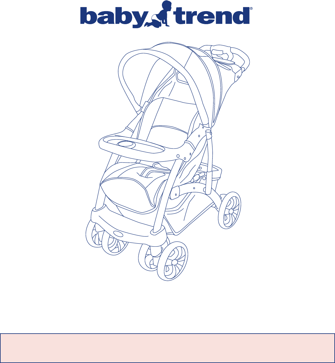 baby trend stroller 1981ct user guide. Black Bedroom Furniture Sets. Home Design Ideas