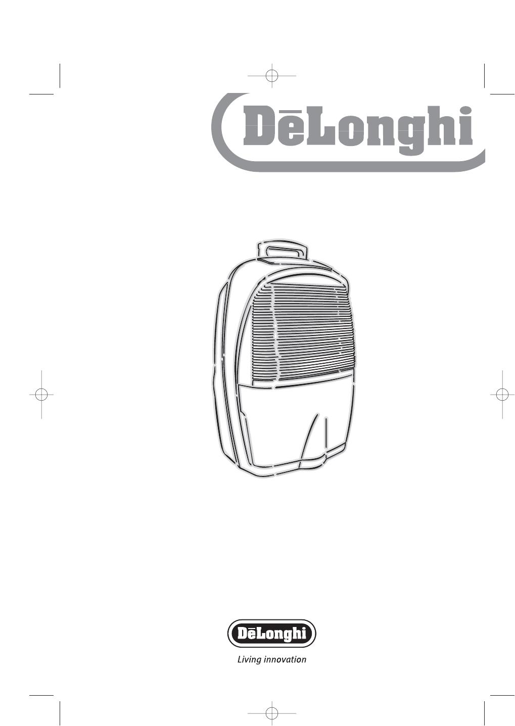 delonghi dehumidifier dec12 user guide manualsonline com rh portablemedia manualsonline com delonghi dehumidifier dem 10 user manual delonghi dehumidifier dem 10 user manual