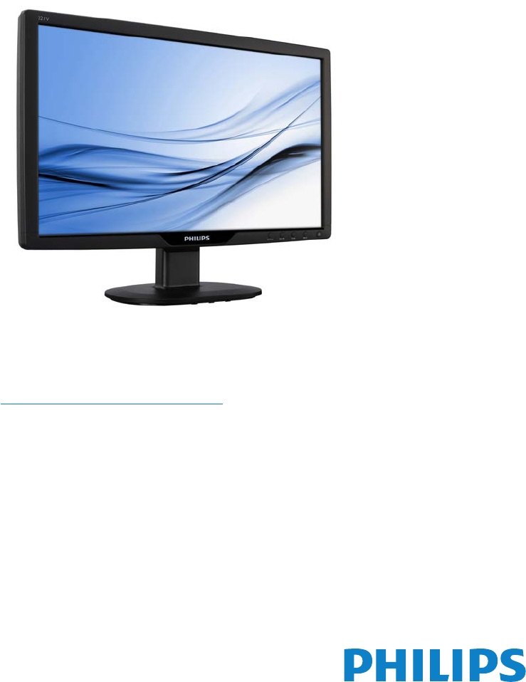 philips x2 monitor user manual