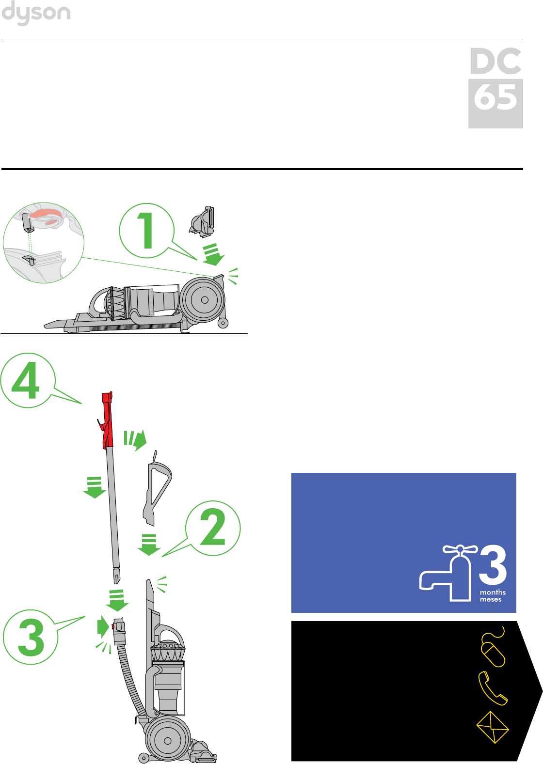dyson vacuum cleaner dc65 user guide manualsonline com rh homeappliance manualsonline com dyson owner manual ab14 dyson owner manual ab14