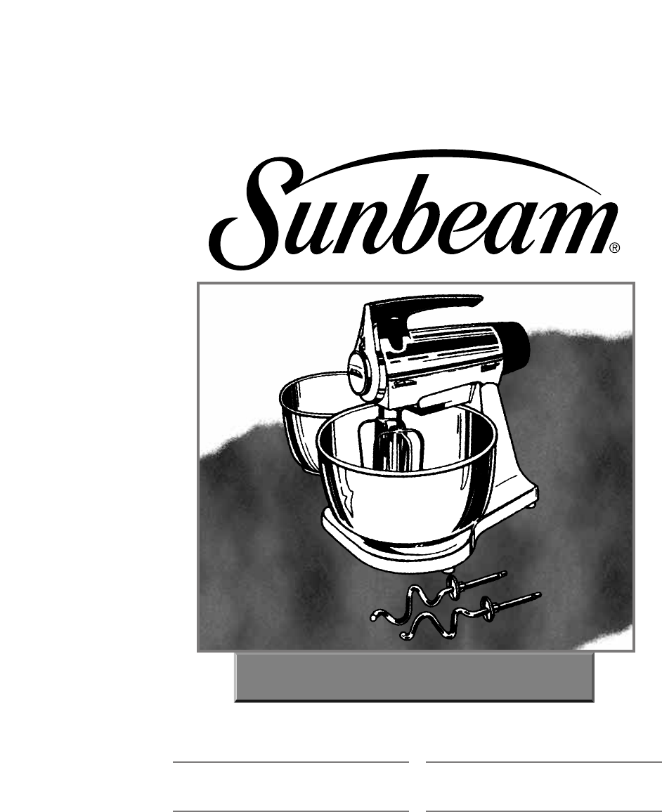 Sunbeam Mixer 2356 User Guide