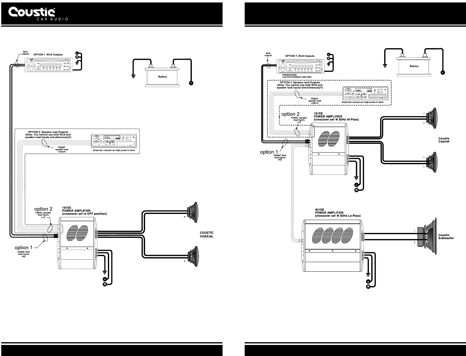 Typical multi-amplifier system