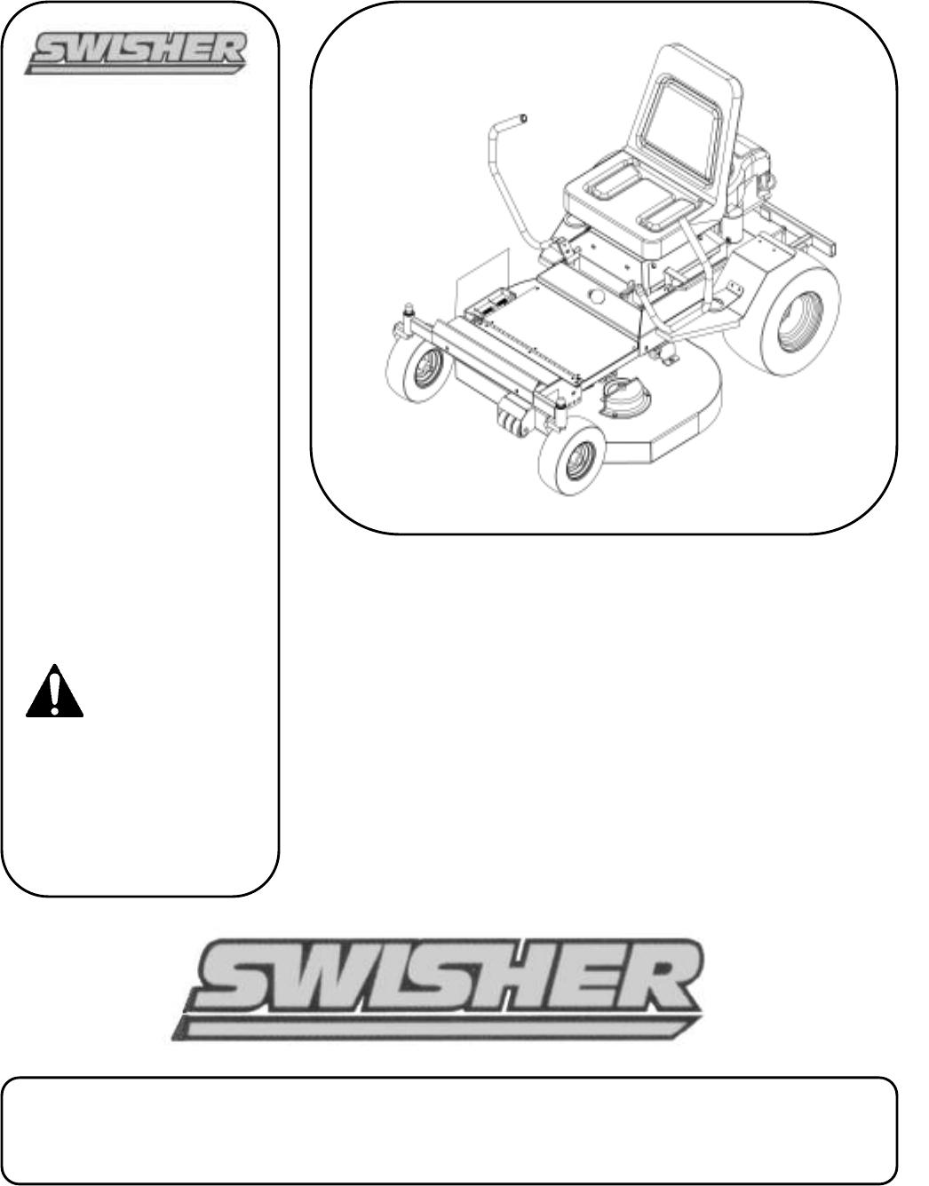swisher lawn mower zt2250  zt1436b  zt18542 user guide swisher 44 trail mower manual swisher trail mower manual