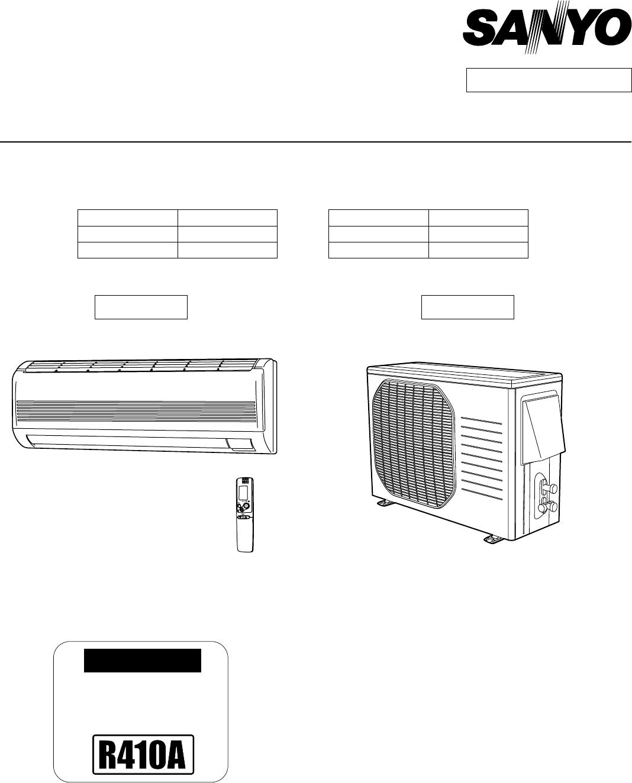 sanyo air conditioner ch1271 user guide manualsonline com rh manualsonline com