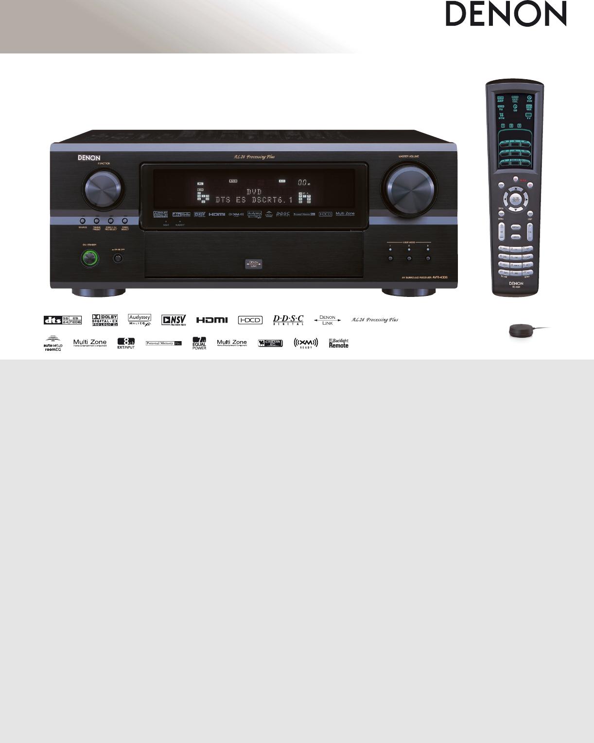 denon stereo system avr 4306 user guide manualsonline com rh audio manualsonline com Denon Audio Amplifier Denon Stereo Amplifier Audio Amp 2200