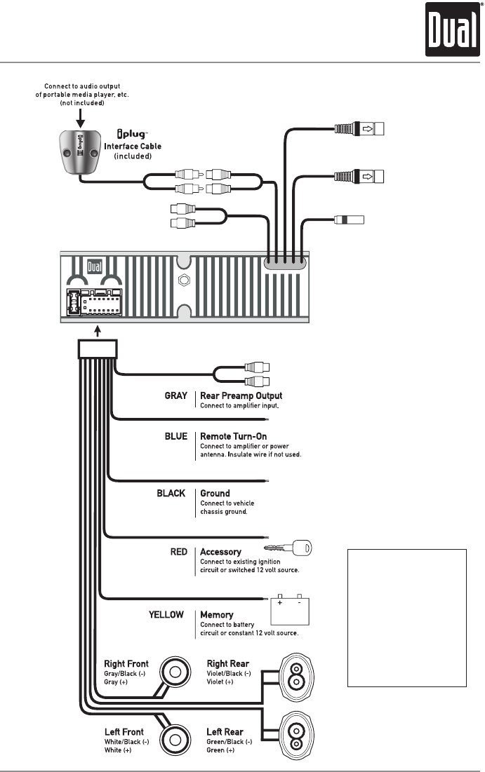 page 3 of dual car stereo system xdma6700 user guide