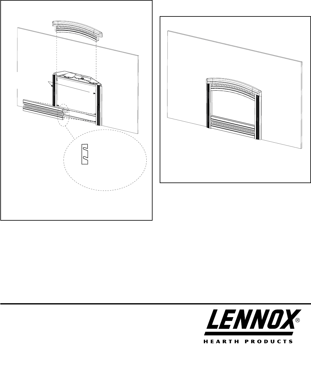 Page 2 of Lennox Hearth Oven LSS CA40 User Guide