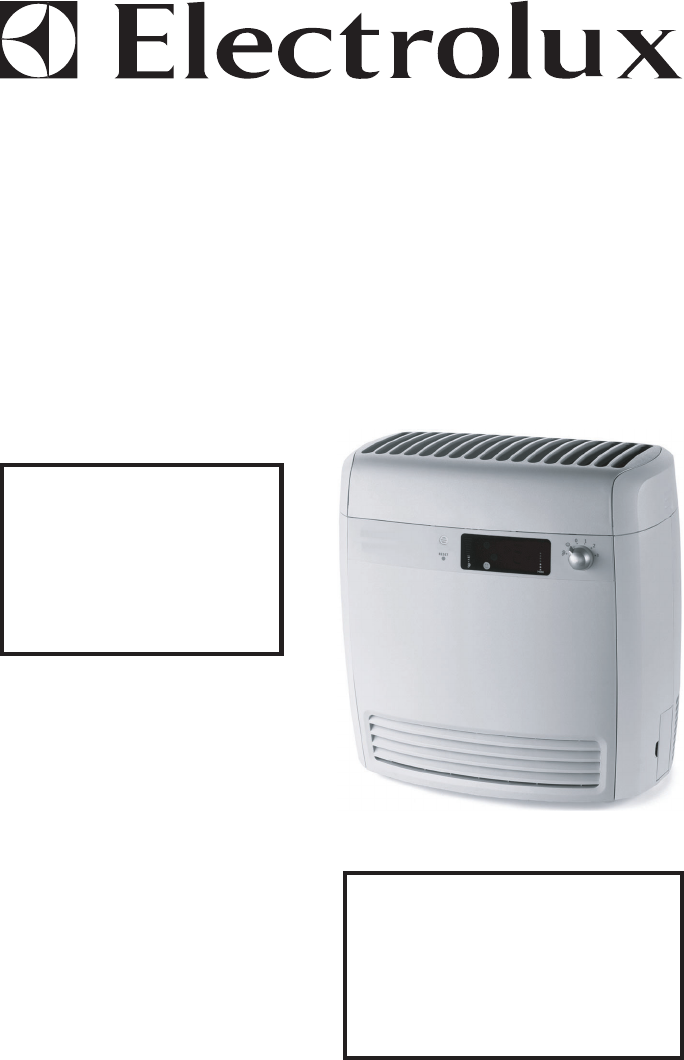 electrolux air cleaner z7040 user guide manualsonline com rh homeappliance manualsonline com