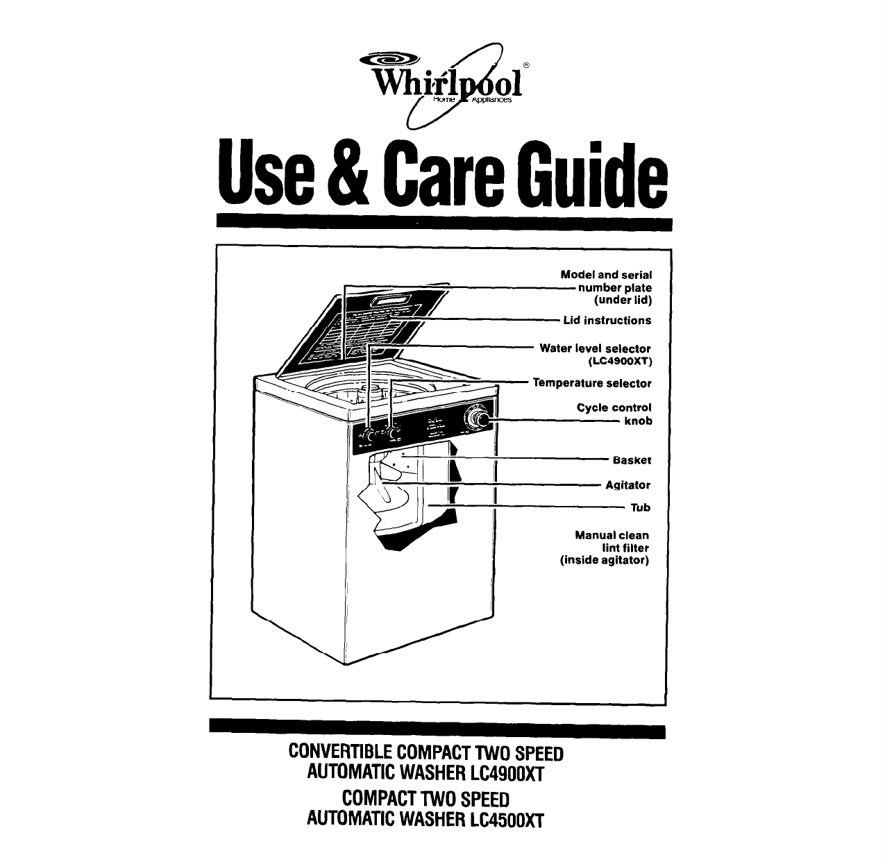 whirlpool washer lc4500xt user guide