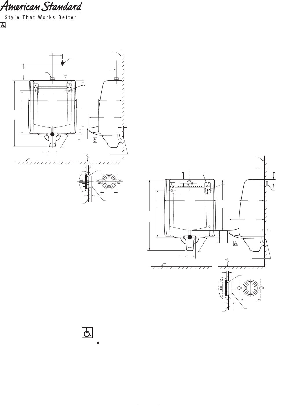 Page 2 Of American Standard Indoor Furnishings 6501010 User Guide Urinal Wiring Diagram Manual