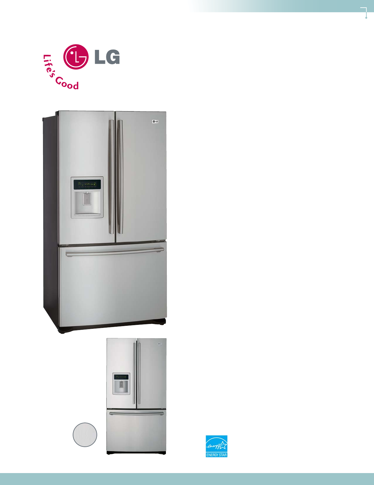 Lg Electronics Refrigerator Lfd21860 User Guide