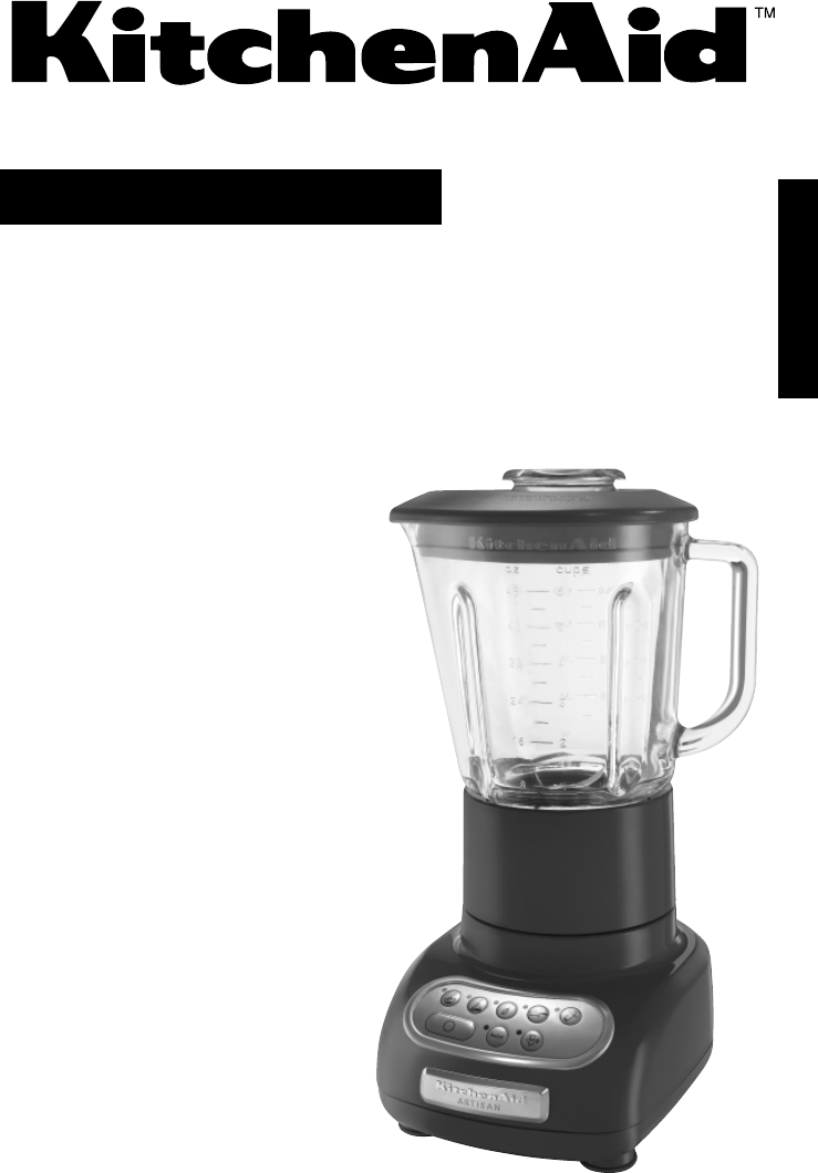 kitchenaid blender 5ksb555 user guide. Black Bedroom Furniture Sets. Home Design Ideas