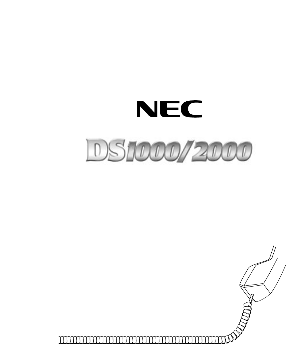nec telephone ds1000 2000 user guide manualsonline com rh phone manualsonline com NEC DS1000 Phone System NEC DS2000
