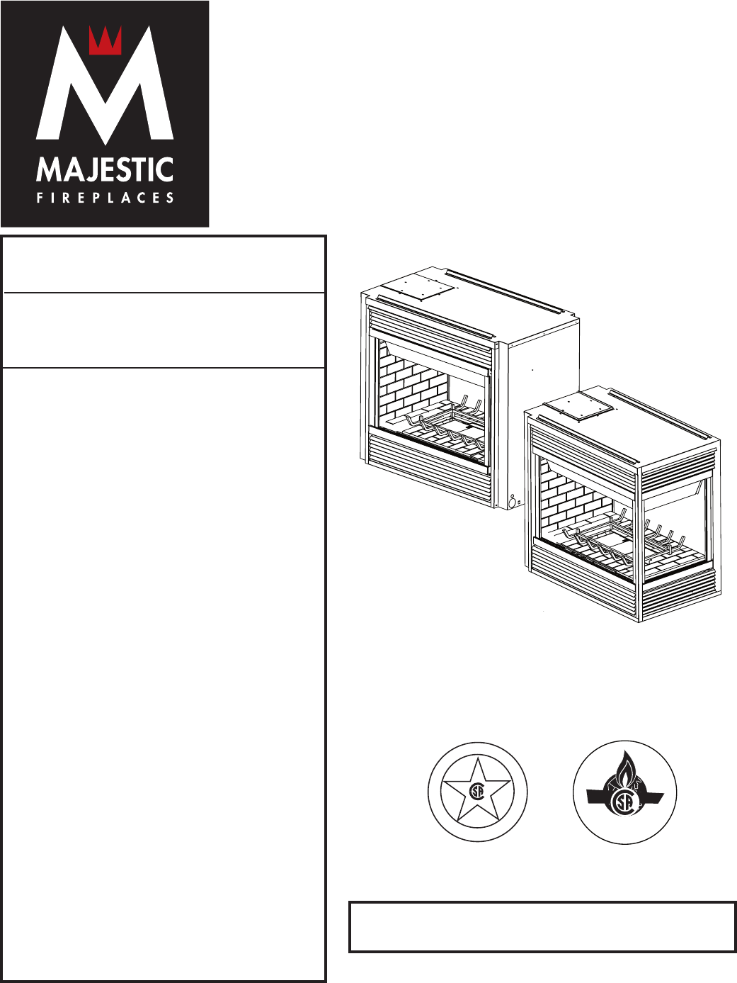 majestic appliances indoor fireplace 360dvs3 user guide