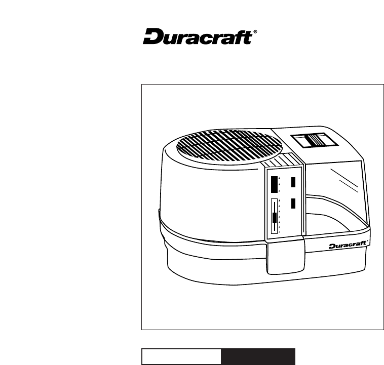 duracraft humidifier dh 805 manual