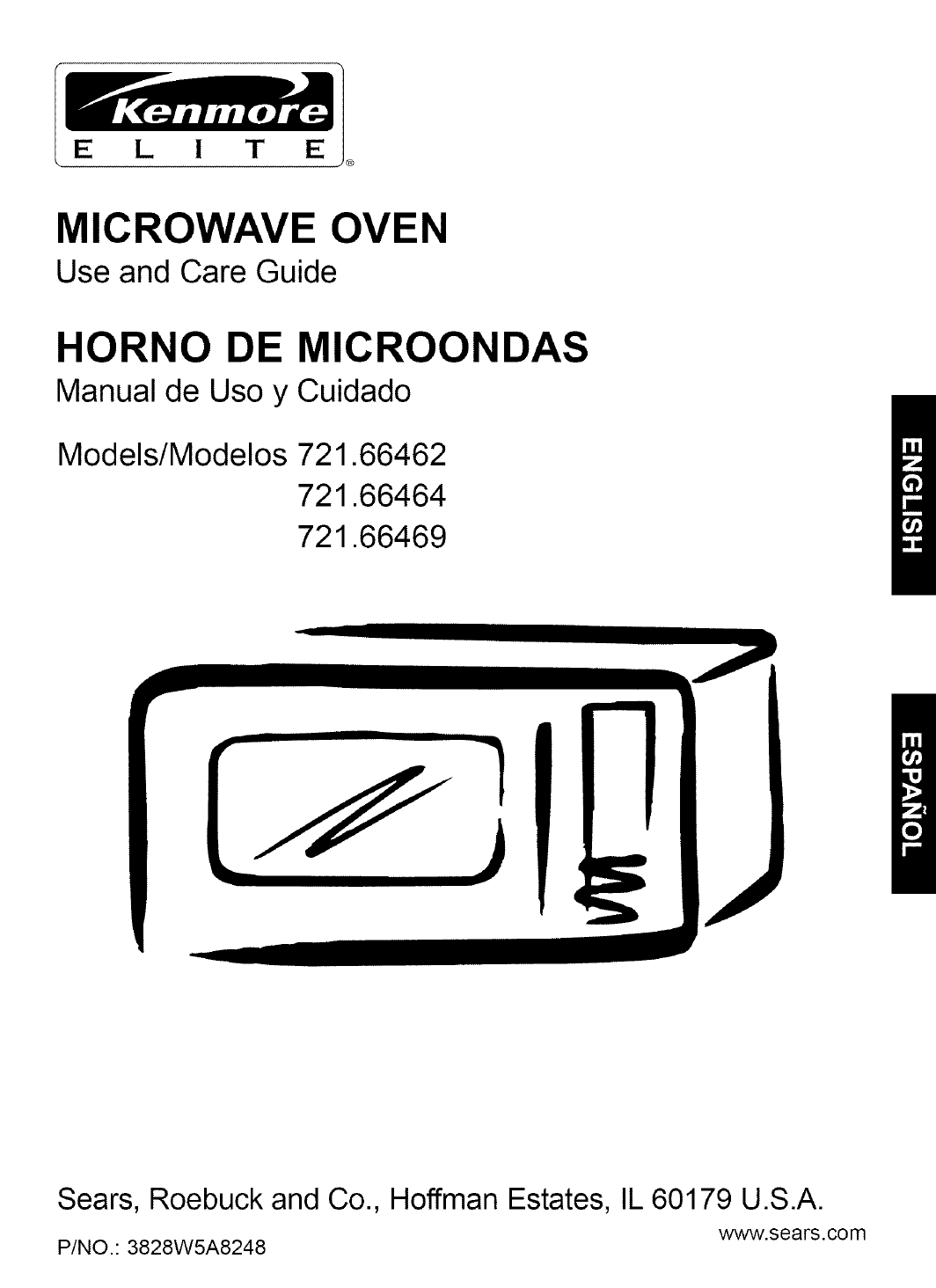 Kenmore 721 Microwave Installation Manual
