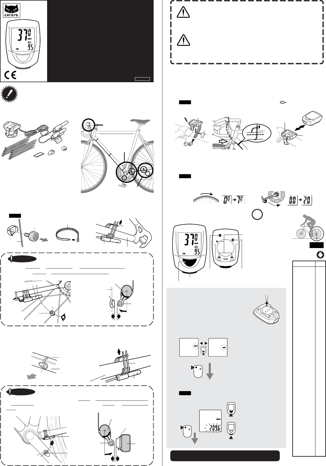 Cateye Bicycle Accessories Cc Cd200n User Guide Manualsonline