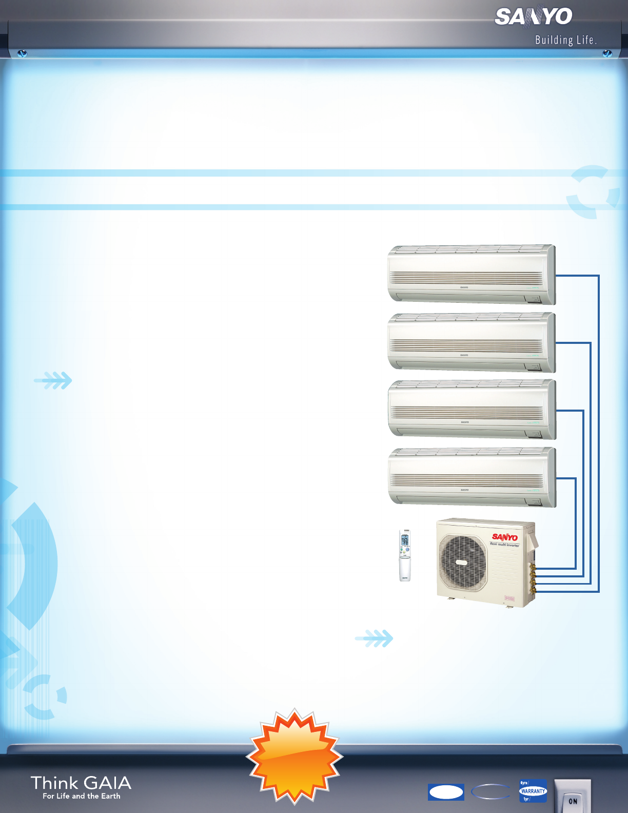 sanyo ion inverter air conditioner manual