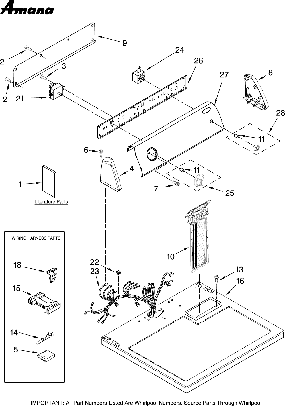 Amana Dryer Schematic - Wiring Diagrams on